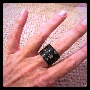 Sundance dark wood & silver ring